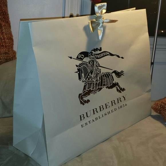 Burberry - Large Burberry shopping bag from Julia's closet on Poshmark