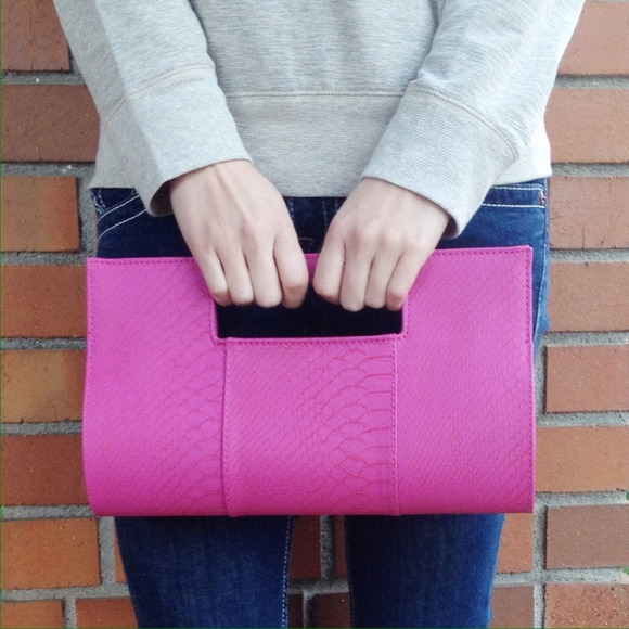 Clutches & Wallets - NWOT! Magenta oversized clutch