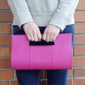 Bags - NWOT! Magenta oversized clutch 1