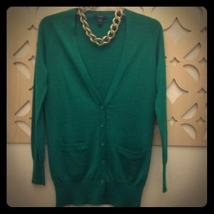 J. Crew Sweaters - J. Crew Fir Green button-down sweater