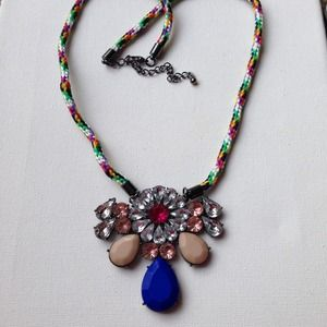 HOST PICK Multicolor crystal pendant necklace