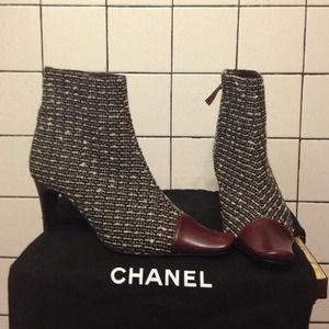 just reduced authentic chanel booties