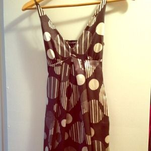 bebe Dresses - Bebe Brown Polka Dot Dress