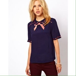 ASOS Tops - [NWT] ASOS - Blouse with Ribbon Detail