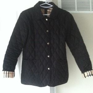Burberry quilted jacket XS