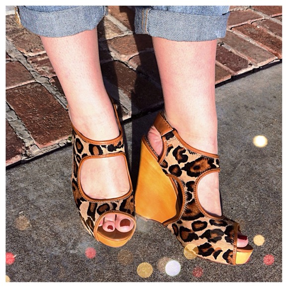 Sam Edelman Shoes - 🔴SOLD Sam Edelman Leopard Cutout Wedges!