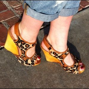Sam Edelman Shoes - 🔴SOLD Sam Edelman Leopard Cutout Wedges!