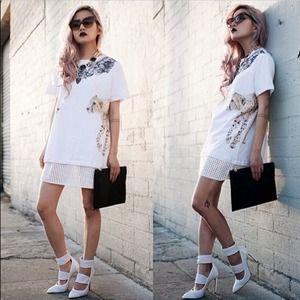 3f48a856bfc sorella boutique Dresses - Mesh jersey dress shirt from sorella boutique