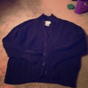 talbots Sweaters - Real nice chunky 3/4 slv blk talbots cardigan