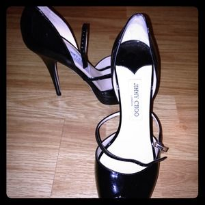 Jimmy Choo  patent black stiletto