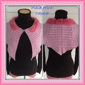 ✂️CUSTOM MADE Pink Plaid Capelet ***HOST PICK***✂️