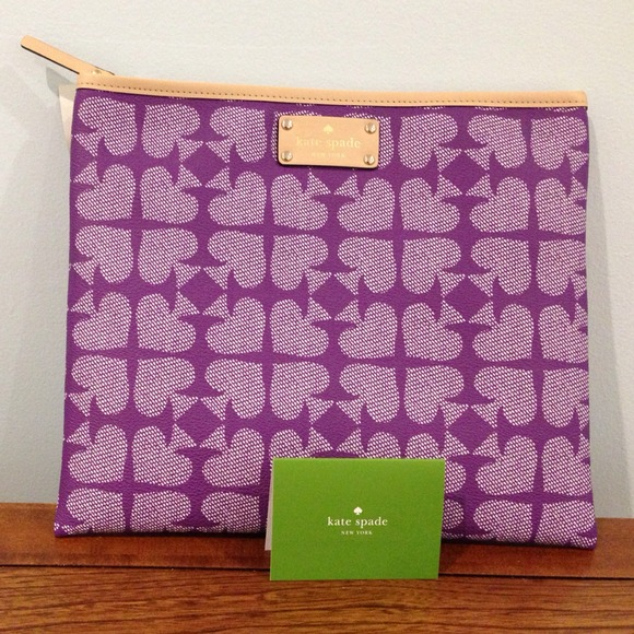 kate spade Clutches & Wallets - 🎉HP 2/17🎉Kate Spade Purple Spades Pouch