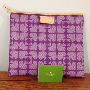 kate spade Bags - 🎉HP 2/17🎉Kate Spade Purple Spades Pouch