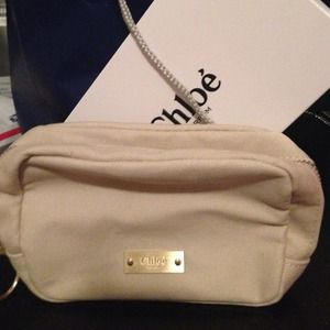Chloe parfum cosmetic makeup bag NWT