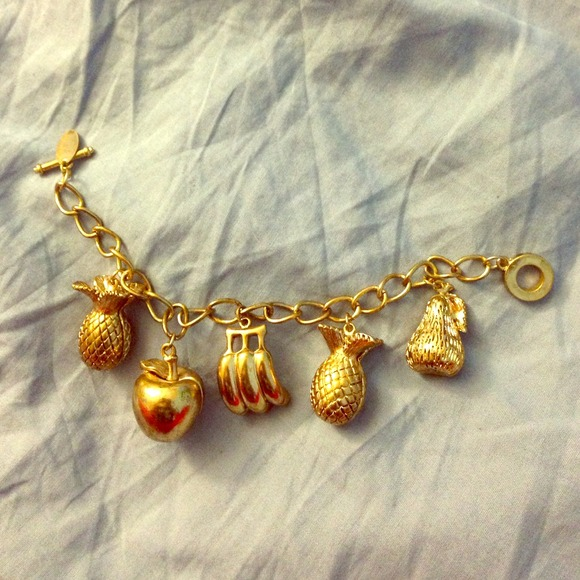 Jewelry - And Mary fruit charm bracelet