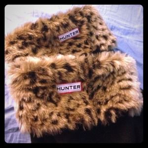 Hunter rainboot fleece inserts (leopard)