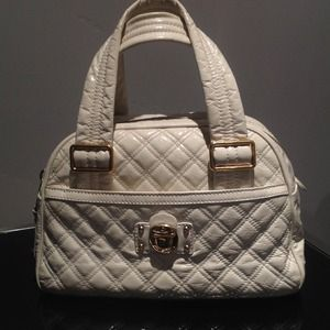 Marc Jacobs Goat Leather off white bowler bag