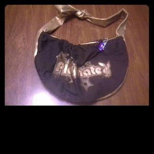 Black & Gold Playboy Shoulder Bag NWOT