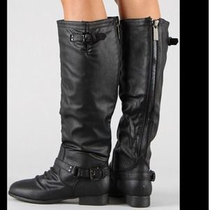 NEW Black Woman's Fashion Zipper Riding Boots💋