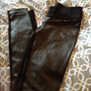 Zara Pants - Zara Faux Leather Leggings - Size Medium
