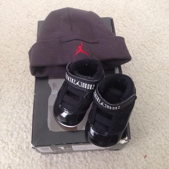 online retailer 622f3 271df Infant Jordan 11 Retro Breds black & red