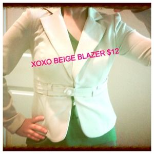 XOXO BEIGE BLAZER$12 ONLY. GREAT FOR WORK