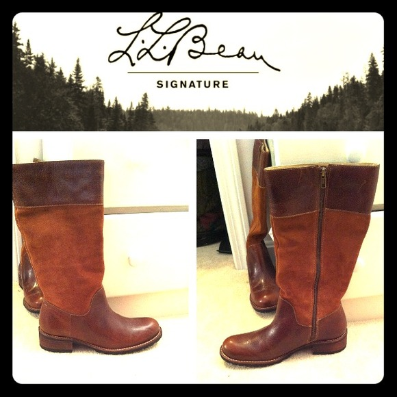 69 off ll bean boots ll bean deerfield boots tall suede leather from kristin 39 s closet on. Black Bedroom Furniture Sets. Home Design Ideas