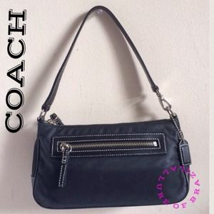 AUTHENTIC COACH 4291 black Nylon w leather trim