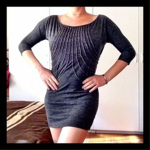 Dresses & Skirts - Super Hot Grey Dress With Chains