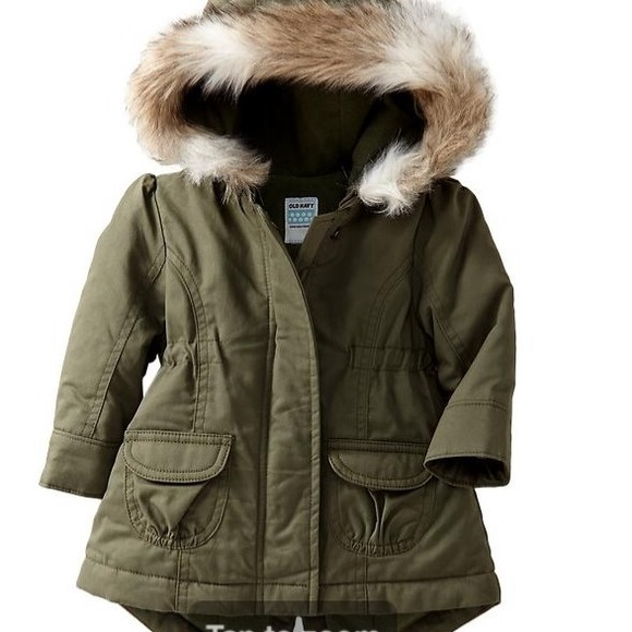 Girls Green Parka Coat - JacketIn