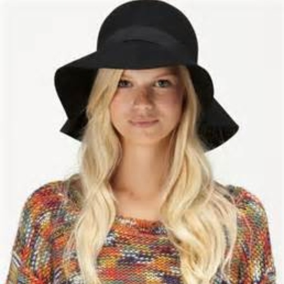 Roxy Accessories - Roxy Autumn Felt Floppy Hat Black f68d2bada2a