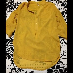 Mustard yellow tunic top