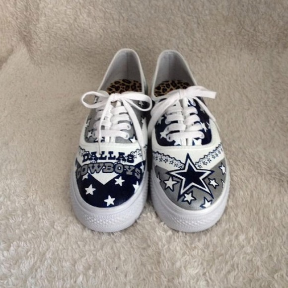 faec6af5d6b Custom painted dallas cowboys shoes. M 52c21db6de4f282cfe0f8333. Other Shoes  you may like. VANS perforated leather sneaker
