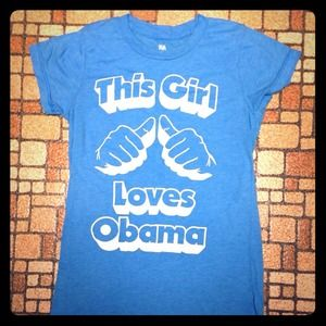 This Girl Loves Obama tee by Local Celebrity