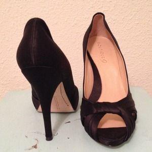 Satin heels