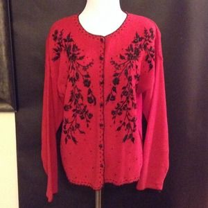 Heirloom Collectibles Sweaters - HEIRLOOM COLLECTIBLE Vintage Embroidered Sweater
