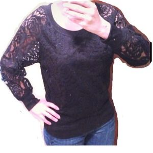 Sweaters - NWOT Black lace sweater