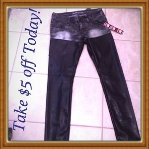 Dollhouse jean/ faux leAther