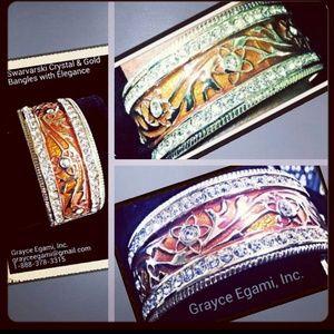 Jewelry - SOLD! Swarvarski Crystal Fire Polished Bangle