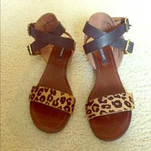 Shoemint Shoes - Leopard Print Sandals