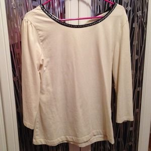 Hallhuber Tops - Hallhuber jewel neck top size 42