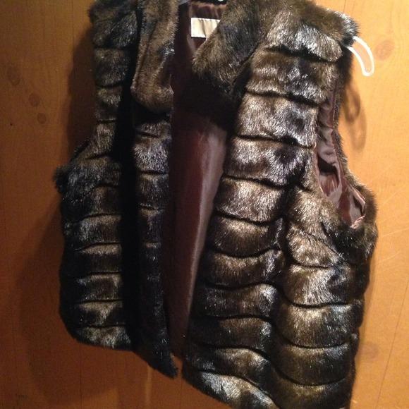 Michael Kors fur vest faux fur