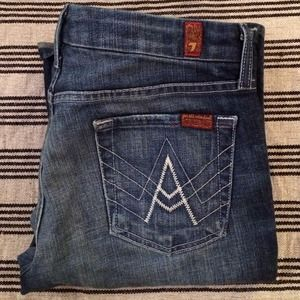 7 for all Mankind Denim - 7FAM A pocket boot cut jean