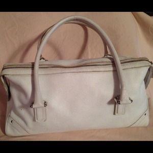 Burberry Handbags - Burberry London white Italian leather satchel