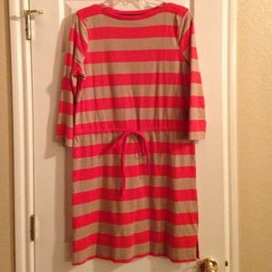 Dresses & Skirts - Merona orange & khaki stripe dress