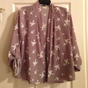Forever 21 Jackets & Blazers - Forever 21 dove printed kimono.