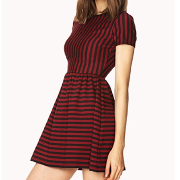 40% off Forever 21 Dresses & Skirts - Darling Red and Black ...