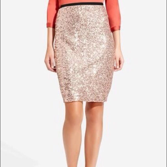 50% off The Limited Dresses & Skirts - Rose Gold Sequin Pencil ...
