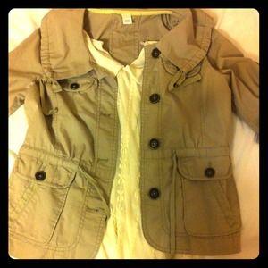 Loft khaki colored jacket 3/4 sleeve