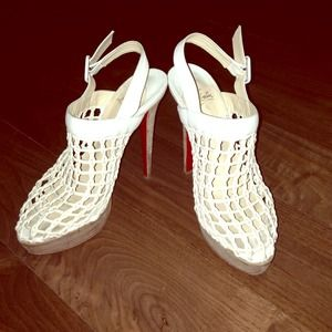 Authentic Christian louboutin pillow caged sandals